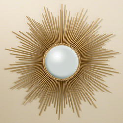 Sunburst Mirror - Gold w/Security Hardware