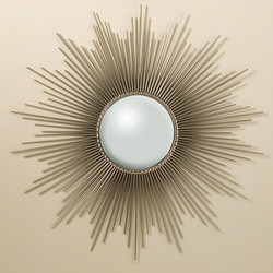 Sunburst Mirror - Nickel w/Security Hardware