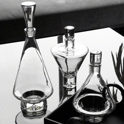 Tall Fat Bottom Decanter - Clear
