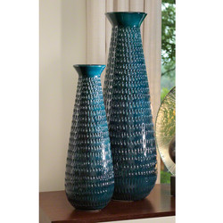 Tall Graffiti Vase - Cobalt - Sm