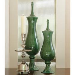 Global Views Tower Jar - Emerald - Sm