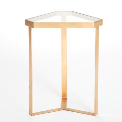 Tri - Hex Table - Gold Leaf - Glass