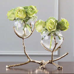 Twig 2 Vase Holder - Brass