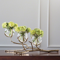 Twig 3 Vase Holder - Brass