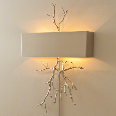 Twig Hardwired Wall Sconce - Nickel