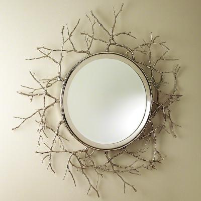 Twig Mirror - Nickel