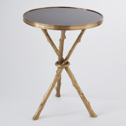 Twig Table - Brass & Black Granite