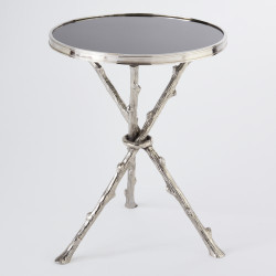 Twig Table - Nickel & Black Granite