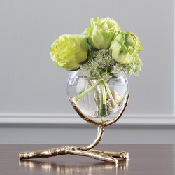 Twig Vase Holder - Brass