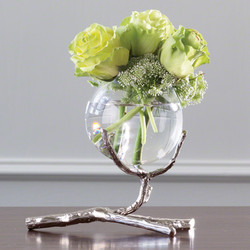 Twig Vase Holder - Nickel