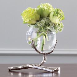 Twig Vase Holder - Nickel