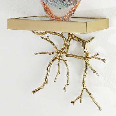 Twig Wall Bracket - Brass