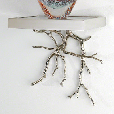 Twig Wall Bracket - Nickel