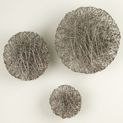 Wired Wall Disc - Nickel - Lg