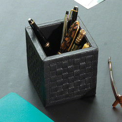 Woven Pencil Cup - Black