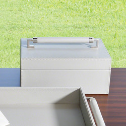Wrapped Leather Handle Box - Grey