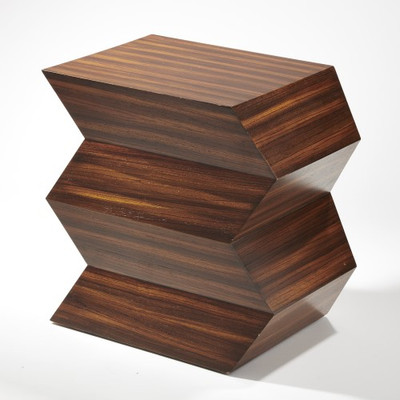 Global Views Zig Zag Table Interior Homescapes