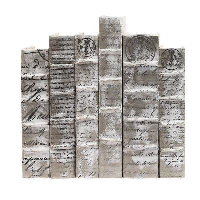 Antique Script With Silver Overlay