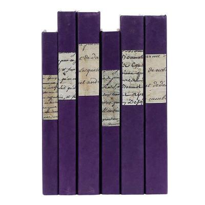 Script Label On Purple