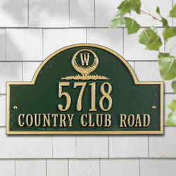 Monogram Golf Arch Standard Plaque main image