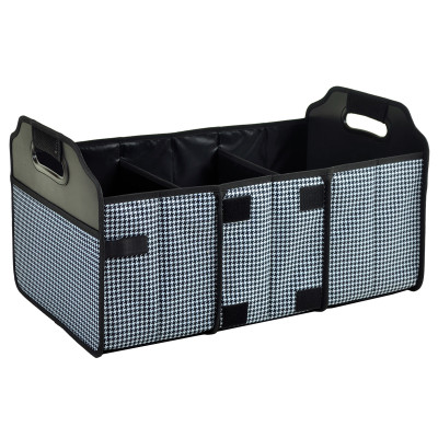 Collapsible Trunk Organizer - Houndstooth image 1