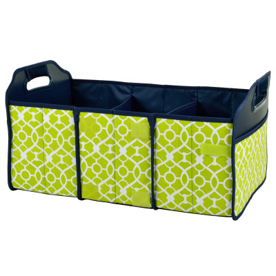 Collapsible Trunk Organizer - Trellis Green image 1
