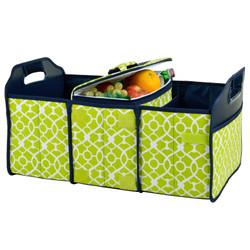 Trunk Organizer and Cooler Set - Trellis Green image 1