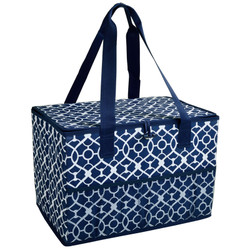 Collapsible Home & Trunk Organizer - Trellis Blue image 1