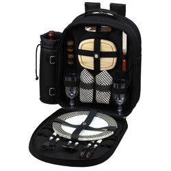 Two Person Picnic Backpack - Black image 1