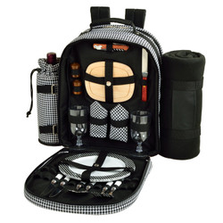 Two Person Backpack with Blanket - Houndstooth image 1