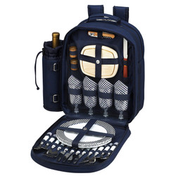 Four Person Picnic Backpack - Navy image 1