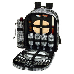 Four Person Picnic Backpack - Houndstooth image 1