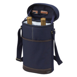 Two Bottle Insulated Carrier - Navy image 1