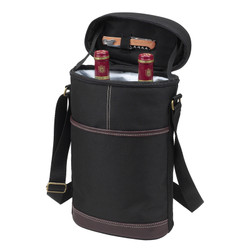 Two Bottle Insulated Carrier - Black image 1