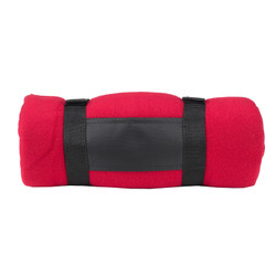 Fleece Blanket with Carrier - Red image 1