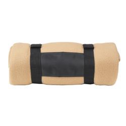 Fleece Blanket with Carrier - Tan image 1