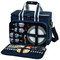 Deluxe Picnic Cooler for Four - Navy image 1