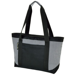 Large Insulated Cooler Tote - Houndstooth image 1