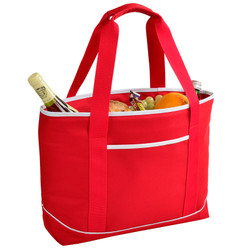 Large Insulated Cooler Tote - Red image 1