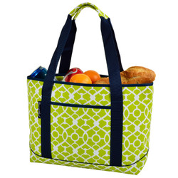 Large Insulated Cooler Tote - Trellis Green image 1