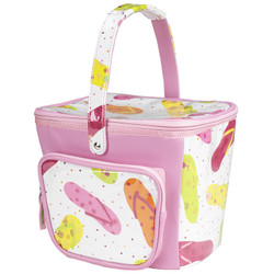Beach Day Bucket Cooler - White Flip Flop image 1