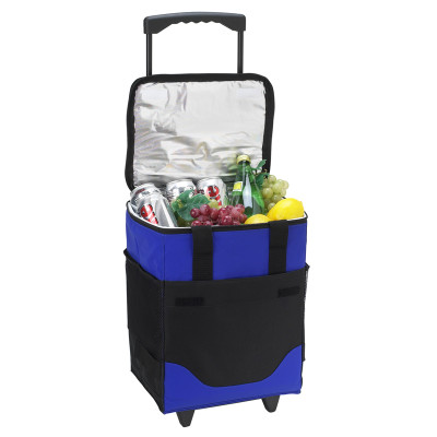 32 Can Collapsible Rolling Cooler - Royal Blue image 1
