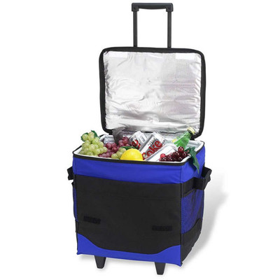 60 Can Collapsible Rolling Cooler - Royal Blue image 1