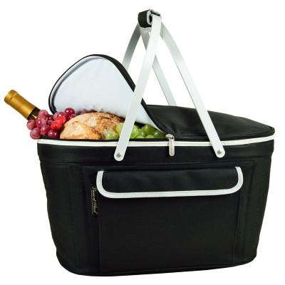 Collapsible Insulated Basket Cooler - Black image 1