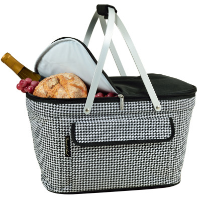 Collapsible Insulated Basket Cooler - Houndstooth image 1