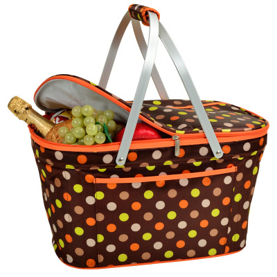 Collapsible Insulated Basket Cooler -  Julia Dot image 1