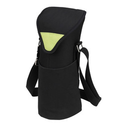 Single Bottle Cooler Tote - Black/Apple image 1