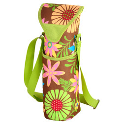 Single Bottle Cooler Tote - Floral image 1