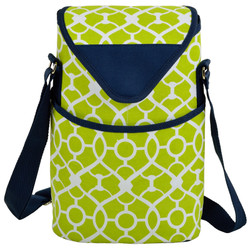 Two Bottle Cooler Tote - Trellis Green image 1