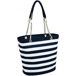 Fashion Cooler Tote - Blue Stripe image 1